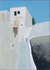 """Santorini"", 25x35cm, oil, 2006, owned by author"