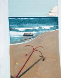 """Sea (Anchor)"", 70x90cm, oil, 2007, owned by author"