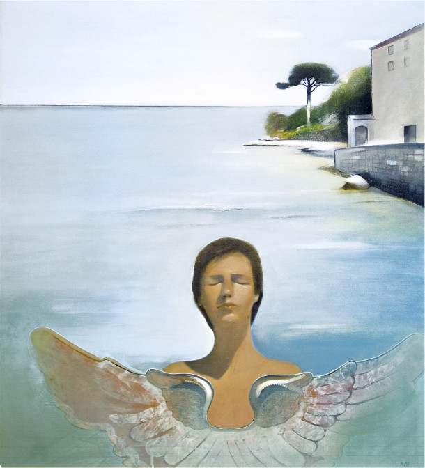 """Boy's dreaming"", 105x95cm, oil painting, 2010"